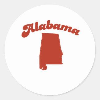 ALABAMA Red State Round Sticker