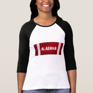 ALABAMA Red White Stripes T-Shirt