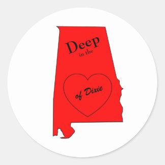 Alabama Round Sticker
