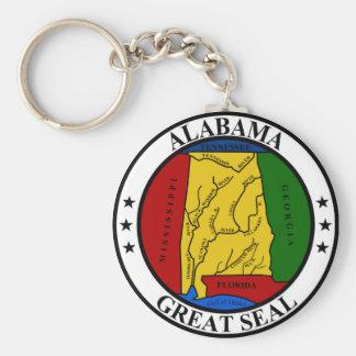 Alabama seal united states america flag symbol rep basic round button key ring