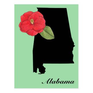 Alabama Silhouette Postcard