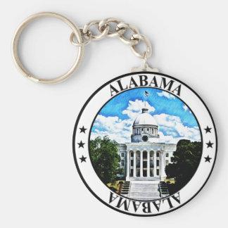 Alabama State Capitol Basic Round Button Key Ring