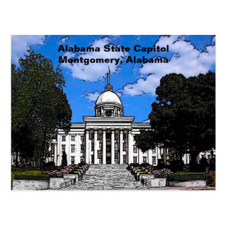 Alabama State Capitol in Montgomery (Cartoon) Postcard
