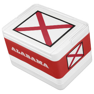 Alabama State Flag 12 Can Igloo Cooler by Janz
