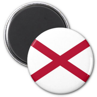 Alabama State Flag 6 Cm Round Magnet