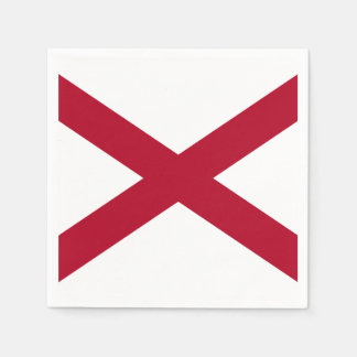 Alabama State Flag Disposable Serviette