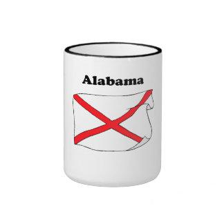Alabama State Flag Coffee Mugs