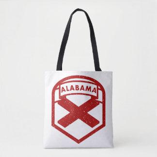 Alabama State Flag Shield Tote Bag