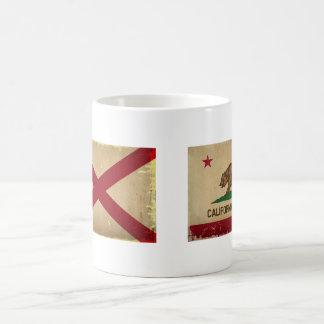 Alabama State Flag VINTAGE. Classic White Coffee Mug