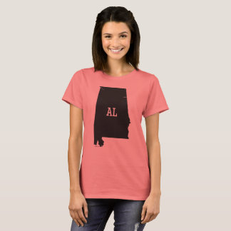Alabama State Map AL Abbreviation Women's T-Shirts