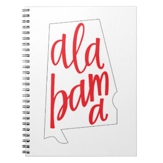 Alabama State Outline Notebook