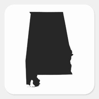 Alabama State Outline Square Sticker