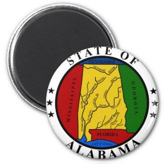 Alabama State Seal and Motto Fridge Magnet