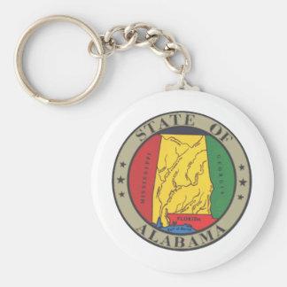 Alabama State Seal Basic Round Button Key Ring