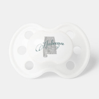 Alabama State Typography Baby Pacifiers