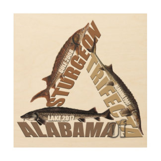 Alabama Sturgeon Trifecta - Wood Panel