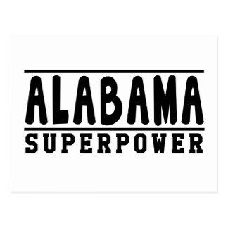 Alabama Superpower Designs Postcard