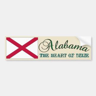 Alabama The Heart Of Dixie Bumper Sticker