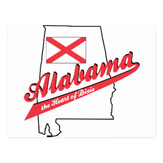 Alabama - The Heart of Dixie Postcard