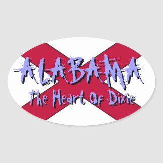 Alabama The Heart Of Dixie State Flag Sticker
