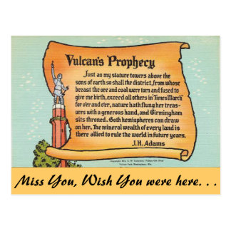 Alabama, Vulcan's Prophecy Postcards