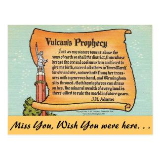 Alabama, Vulcan's Prophecy Postcards