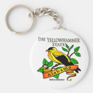 Alabama Yellowhammer Bird Basic Round Button Key Ring