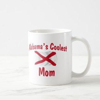 Alabama's Coolest Mom Basic White Mug