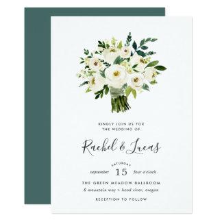 Alabaster Bouquet Wedding Invitation