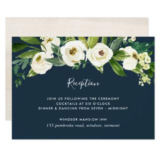 Alabaster Floral Reception Card