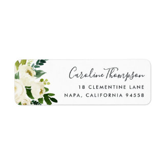 Alabaster Floral Return Address Return Address Label