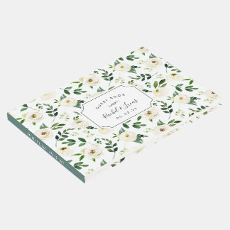 Alabaster Floral Wedding Guest Book