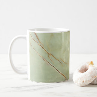 Alabaster look coffee mug