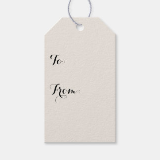 Alabaster Solid Color Customize It Gift Tags