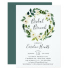 Alabaster Wreath Bridal Brunch Invitation