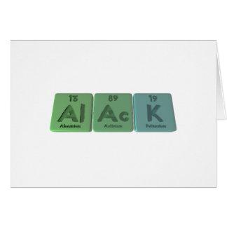 Alack-Al-Ac-K-Aluminium-Actinium-Potassium Cards