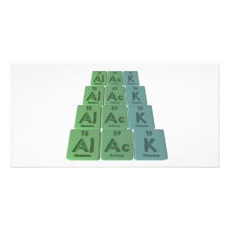 Alack-Al-Ac-K-Aluminium-Actinium-Potassium Photo Card Template