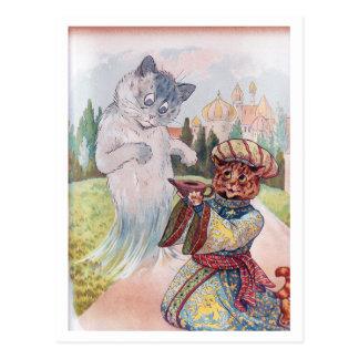Aladdin and the Magic Lamp, Louis Wain Postcard