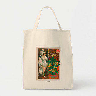 Aladdin Jr. Tale of a Wonderful Lamp Theatre 2 Grocery Tote Bag