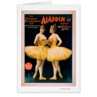 Aladdin Jr. Tale of a Wonderful Lamp Theatre Card