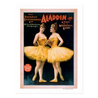 Aladdin Jr. Tale of a Wonderful Lamp Theatre Postcard
