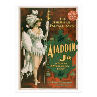 """Aladdin Jr"" Vintage Theater Postcard"
