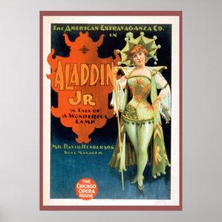 Aladdin Jr Vintage Theatre Poster