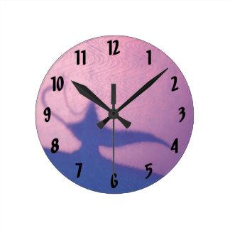 Aladdin's Lamp Round Clock