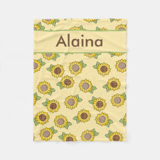 Alaina's Personalized Sunflower Blanket