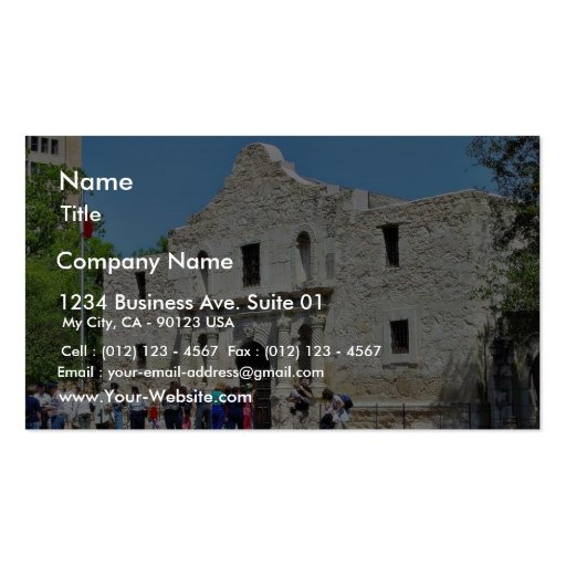 Alamo san antonio forts texas business card template zazzle for Business cards in san antonio