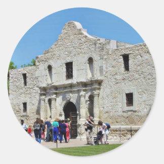 Alamo San Antonio Forts Texas Round Sticker