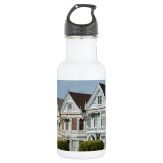 Alamo Square Victorian Houses in San Francisco 532 Ml Water Bottle