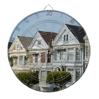 Alamo Square Victorian Houses in San Francisco Dartboard