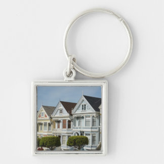 Alamo Square Victorian Houses in San Francisco Key Ring